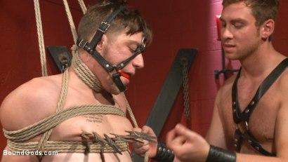 Photo number 6 from Morning Grind: Logan Taylor takes every inch of Connor Maguire shot for Bound Gods on Kink.com. Featuring Connor Maguire and Logan Taylor in hardcore BDSM & Fetish porn.