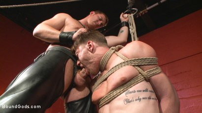 Photo number 10 from Morning Grind: Logan Taylor takes every inch of Connor Maguire shot for Bound Gods on Kink.com. Featuring Connor Maguire and Logan Taylor in hardcore BDSM & Fetish porn.