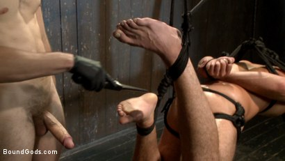 Photo number 8 from No Escape shot for Bound Gods on Kink.com. Featuring Wolf Hudson and DJ in hardcore BDSM & Fetish porn.