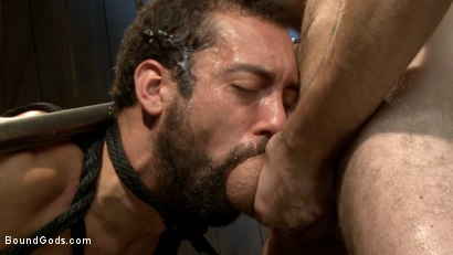 Photo number 14 from No Escape shot for Bound Gods on Kink.com. Featuring Wolf Hudson and DJ in hardcore BDSM & Fetish porn.