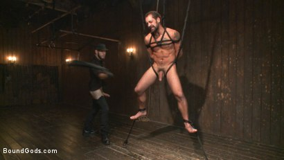 Photo number 5 from No Escape shot for Bound Gods on Kink.com. Featuring Wolf Hudson and DJ in hardcore BDSM & Fetish porn.