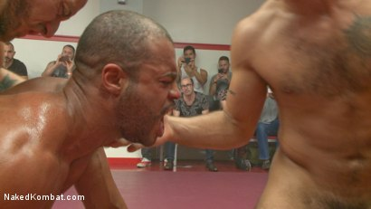 Photo number 12 from Live Tag Team Matchup: Jessie Colter & DJ vs Eli Hunter & Micah Brandt shot for Naked Kombat on Kink.com. Featuring Micah Brandt, Jessie Colter, Eli Hunter and DJ in hardcore BDSM & Fetish porn.