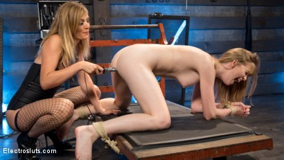 Photo number 11 from The Girl Next Door  shot for Electro Sluts on Kink.com. Featuring Dolly Leigh and Mona Wales in hardcore BDSM & Fetish porn.
