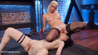 Photo number 7 from Trick or Treat: 19 year old fucked and punished! shot for Electro Sluts on Kink.com. Featuring Charlotte Sartre and Lorelei Lee in hardcore BDSM & Fetish porn.