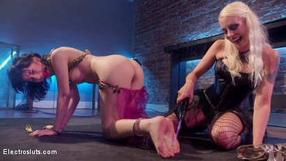Photo number 1 from Trick or Treat: 19 year old fucked and punished! shot for Electro Sluts on Kink.com. Featuring Charlotte Sartre and Lorelei Lee in hardcore BDSM & Fetish porn.