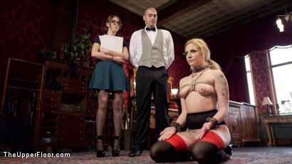 Photo number 2 from Nerdy College Girl Turned Depraved Anal Slave shot for The Upper Floor on Kink.com. Featuring Dahlia Sky, Xander Corvus and Nickey Huntsman in hardcore BDSM & Fetish porn.
