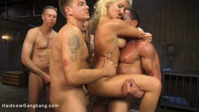 Photo number 15 from Gangbanged Virgin shot for Hardcore Gangbang on Kink.com. Featuring John Strong, Marco Banderas, Mark Wood, Bradley Remington , Gage Sin and Layla Price in hardcore BDSM & Fetish porn.