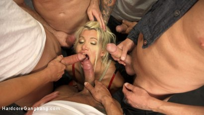 Photo number 2 from Gangbanged Virgin shot for Hardcore Gangbang on Kink.com. Featuring John Strong, Marco Banderas, Mark Wood, Bradley Remington , Gage Sin and Layla Price in hardcore BDSM & Fetish porn.