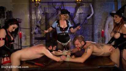 Photo number 13 from Bitchcraft: A Femdom Tea Party shot for Divine Bitches on Kink.com. Featuring Mike Panic, Jay West, Veruca James, Cherry Torn and Bella Rossi in hardcore BDSM & Fetish porn.
