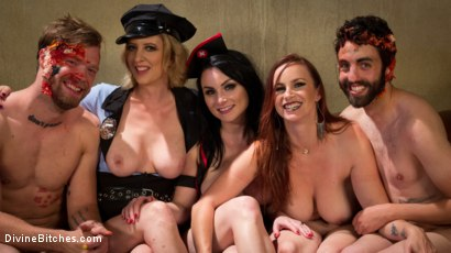 Photo number 6 from Bitchcraft: A Femdom Tea Party shot for Divine Bitches on Kink.com. Featuring Mike Panic, Jay West, Veruca James, Cherry Torn and Bella Rossi in hardcore BDSM & Fetish porn.