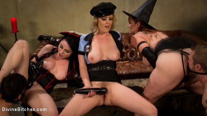 Photo number 9 from Bitchcraft: A Femdom Tea Party shot for Divine Bitches on Kink.com. Featuring Mike Panic, Jay West, Veruca James, Cherry Torn and Bella Rossi in hardcore BDSM & Fetish porn.