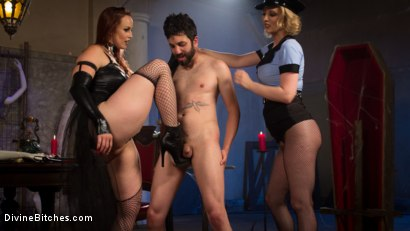 Photo number 1 from Bitchcraft: A Femdom Tea Party shot for Divine Bitches on Kink.com. Featuring Mike Panic, Jay West, Veruca James, Cherry Torn and Bella Rossi in hardcore BDSM & Fetish porn.