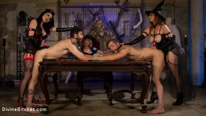 Photo number 5 from Bitchcraft: A Femdom Tea Party shot for Divine Bitches on Kink.com. Featuring Mike Panic, Jay Wimp, Veruca James, Cherry Torn and Bella Rossi in hardcore BDSM & Fetish porn.