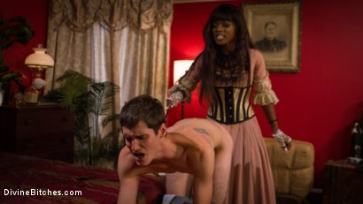 Photo number 13 from On Your Knees! It's the debut of Mistress Ana Foxx! shot for Divine Bitches on Kink.com. Featuring Tony Orlando and Ana Foxxx in hardcore BDSM & Fetish porn.