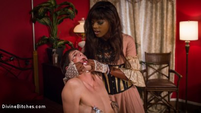 Photo number 4 from On Your Knees! It's the debut of Mistress Ana Foxx! shot for Divine Bitches on Kink.com. Featuring Tony Orlando and Ana Foxxx in hardcore BDSM & Fetish porn.