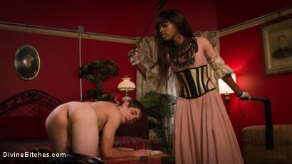 Photo number 3 from On Your Knees! It's the debut of Mistress Ana Foxx! shot for Divine Bitches on Kink.com. Featuring Tony Orlando and Ana Foxxx in hardcore BDSM & Fetish porn.