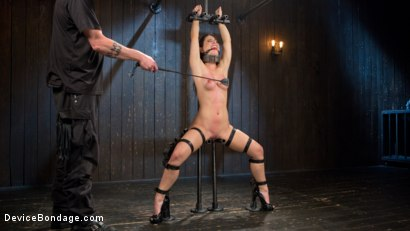 Photo number 9 from Boxed In shot for Device Bondage on Kink.com. Featuring Serena Blair and The Pope in hardcore BDSM & Fetish porn.