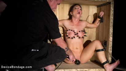 Photo number 4 from Boxed In shot for Device Bondage on Kink.com. Featuring Serena Blair and The Pope in hardcore BDSM & Fetish porn.