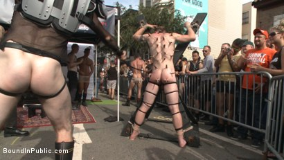 Photo number 6 from Cass Bolton's Folsom Street Fair Orgy Continues! shot for Bound in Public on Kink.com. Featuring Christian Wilde, Jessie Colter and Cass Bolton in hardcore BDSM & Fetish porn.