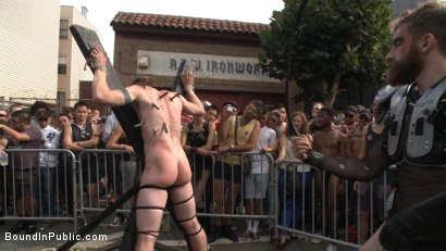 Photo number 8 from Cass Bolton's Folsom Street Fair Orgy Continues! shot for Bound in Public on Kink.com. Featuring Christian Wilde, Jessie Colter and Cass Bolton in hardcore BDSM & Fetish porn.
