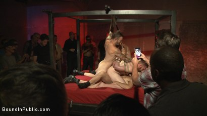 Photo number 9 from Cass Bolton's Folsom Street Fair Orgy Continues! shot for Bound in Public on Kink.com. Featuring Christian Wilde, Jessie Colter and Cass Bolton in hardcore BDSM & Fetish porn.