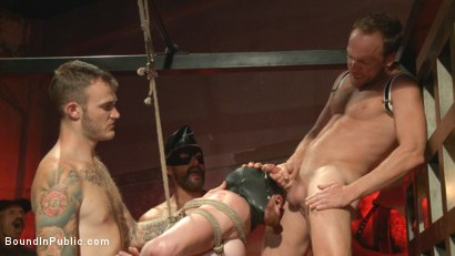 Photo number 12 from Cass Bolton's Folsom Street Fair Orgy Continues! shot for Bound in Public on Kink.com. Featuring Christian Wilde, Jessie Colter and Cass Bolton in hardcore BDSM & Fetish porn.