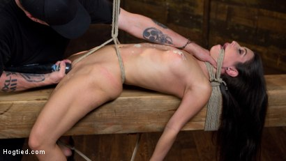 Photo number 11 from Serena Blair is Back in Extreme Bondage and Cumming Like a Whore shot for Hogtied on Kink.com. Featuring Serena Blair and The Pope in hardcore BDSM & Fetish porn.