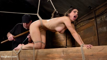 Photo number 17 from Serena Blair is Back in Extreme Bondage and Cumming Like a Whore shot for Hogtied on Kink.com. Featuring Serena Blair and The Pope in hardcore BDSM & Fetish porn.