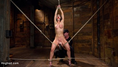 Photo number 4 from Serena Blair is Back in Extreme Bondage and Cumming Like a Whore shot for Hogtied on Kink.com. Featuring Serena Blair and The Pope in hardcore BDSM & Fetish porn.
