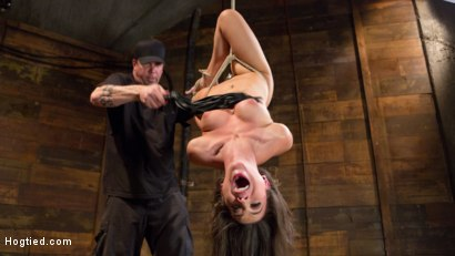 Photo number 9 from Serena Blair is Back in Extreme Bondage and Cumming Like a Whore shot for Hogtied on Kink.com. Featuring Serena Blair and The Pope in hardcore BDSM & Fetish porn.