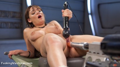 Photo number 7 from Big Natural Tits, First Timer, Machine Fucked Newbie!!! shot for fuckingmachines on Kink.com. Featuring Charlotte Cross in hardcore BDSM & Fetish porn.
