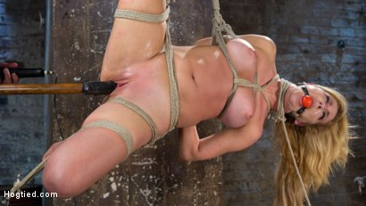 Photo number 10 from Hot Blonde MILF Suffers Through Grueling Bondage shot for Hogtied on Kink.com. Featuring Cherie DeVille in hardcore BDSM & Fetish porn.