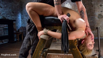 Photo number 11 from Hot Blonde MILF Suffers Through Grueling Bondage shot for Hogtied on Kink.com. Featuring Cherie DeVille in hardcore BDSM & Fetish porn.