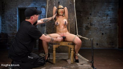 Photo number 7 from Hot Blonde MILF Suffers Through Grueling Bondage shot for Hogtied on Kink.com. Featuring Cherie DeVille in hardcore BDSM & Fetish porn.