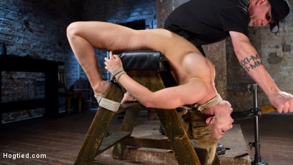 Photo number 14 from Hot Blonde MILF Suffers Through Grueling Bondage shot for Hogtied on Kink.com. Featuring Cherie Deville in hardcore BDSM & Fetish porn.