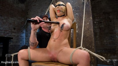 Hot Blonde MILF Suffers Through Grueling Bondage