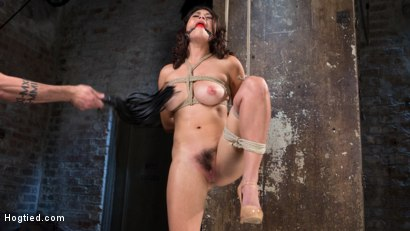 Photo number 2 from Pretty Loves Pain shot for Hogtied on Kink.com. Featuring Raven Rocket and The Pope in hardcore BDSM & Fetish porn.