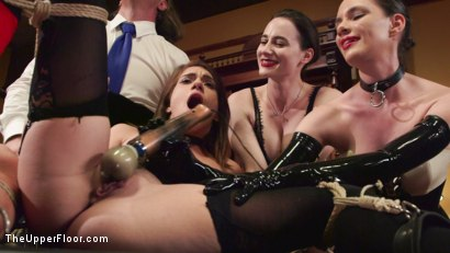 Photo number 11 from Hot Kinky Slave Orgy  shot for The Upper Floor on Kink.com. Featuring Aiden Starr, Mickey Mod, Marco Banderas, Ella Nova , Joseline Kelly, Ember Stone and Savannah Fox in hardcore BDSM & Fetish porn.