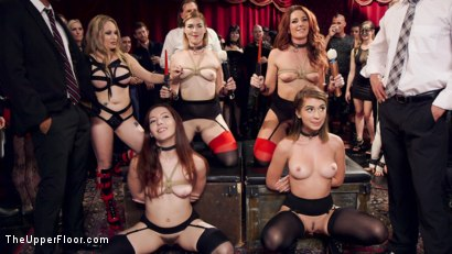 Photo number 6 from Hot Kinky Slave Orgy  shot for The Upper Floor on Kink.com. Featuring Aiden Starr, Mickey Mod, Marco Banderas, Ella Nova , Joseline Kelly, Ember Stone and Savannah Fox in hardcore BDSM & Fetish porn.
