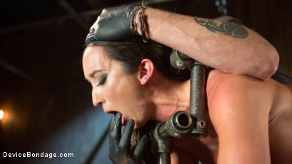 Photo number 16 from Fresh Meat - Virginia Tunnels - Testing Limits shot for Device Bondage on Kink.com. Featuring Virginia Tunnels and The Pope in hardcore BDSM & Fetish porn.