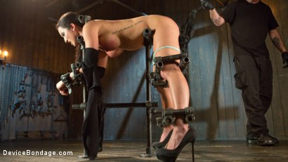 Photo number 2 from Fresh Meat - Virginia Tunnels - Testing Limits shot for Device Bondage on Kink.com. Featuring Virginia Tunnels and The Pope in hardcore BDSM & Fetish porn.