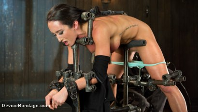 Photo number 3 from Fresh Meat - Virginia Tunnels - Testing Limits shot for Device Bondage on Kink.com. Featuring Virginia Tunnels and The Pope in hardcore BDSM & Fetish porn.