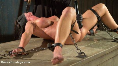 Photo number 13 from Fresh Meat - Virginia Tunnels - Testing Limits shot for Device Bondage on Kink.com. Featuring Virginia Tunnels and The Pope in hardcore BDSM & Fetish porn.