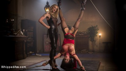 Photo number 1 from Madeline's New Slave Girl shot for Whipped Ass on Kink.com. Featuring Maitresse Madeline Marlowe  and Virginia Tunnels in hardcore BDSM & Fetish porn.