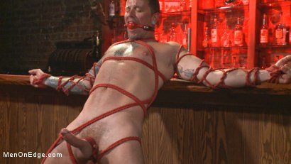 Photo number 14 from Out-Creeping the Horny Bartender shot for Men On Edge on Kink.com. Featuring Max Cameron in hardcore BDSM & Fetish porn.