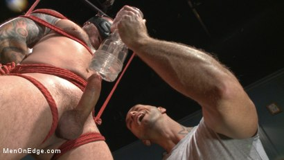 Photo number 4 from Out-Creeping the Horny Bartender shot for Men On Edge on Kink.com. Featuring Max Cameron in hardcore BDSM & Fetish porn.