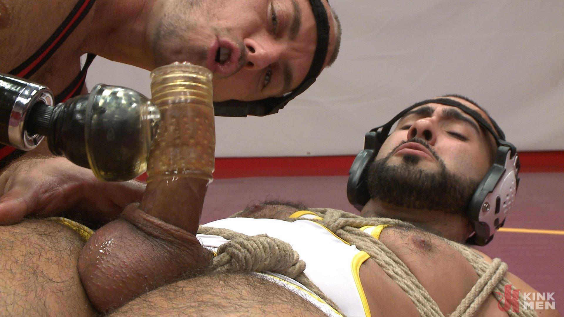 Photo number 7 from Rikk York gets slammed to the mat and edged shot for Men On Edge on Kink.com. Featuring Rikk York in hardcore BDSM & Fetish porn.