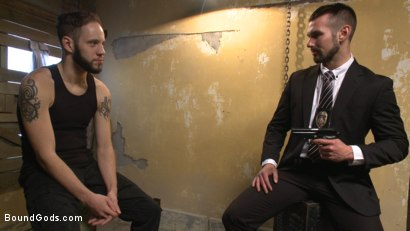 Photo number 1 from Hot Pursuit: Special Agent Chris Harder takes on Wolf Hudson shot for Bound Gods on Kink.com. Featuring Wolf Hudson and Chris Harder in hardcore BDSM & Fetish porn.