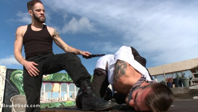 Photo number 3 from Hot Pursuit: Special Agent Chris Harder takes on Wolf Hudson shot for Bound Gods on Kink.com. Featuring Wolf Hudson and Chris Harder in hardcore BDSM & Fetish porn.