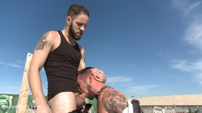 Photo number 4 from Hot Pursuit: Special Agent Chris Harder takes on Wolf Hudson shot for Bound Gods on Kink.com. Featuring Wolf Hudson and Chris Harder in hardcore BDSM & Fetish porn.